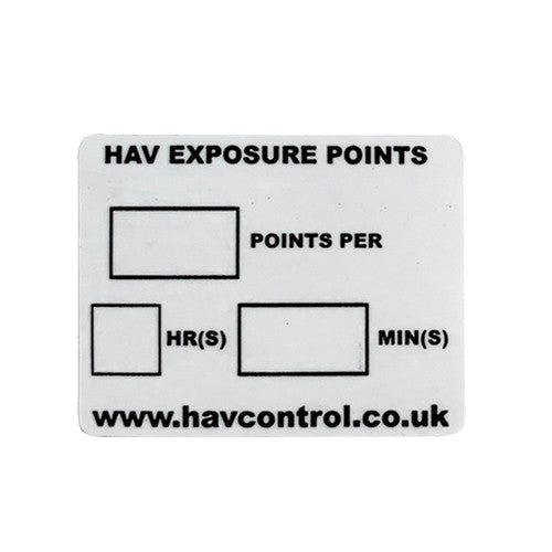 HAV Exposure Points Labels 41mm x 35mm - Supplied In Packs Of 20