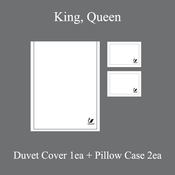 Duvet Cover Set Cordon Collection, Gray(QUEEN)
