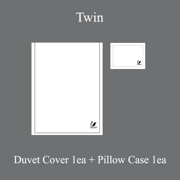 Duvet Cover Set Cordon Collection, Gray(TWIN)