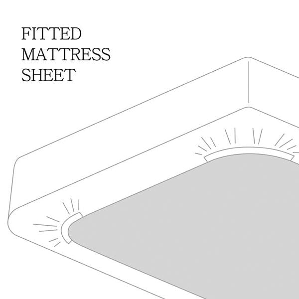 Fitted Sheet, White (TWIN)