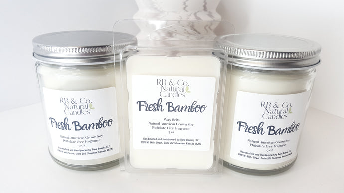 Fresh Bamboo | Natural Soy Candle | Hand-Poured and Hand-Crafted