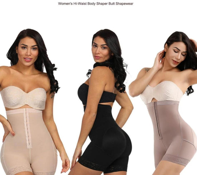 Your Beautiful 3 in 1 Shapewear - Slimming High Waist Trainer, Lace Booty Lifter & Thigh Slimmer