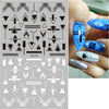Black White 3D Nail Art Stickers Sliders Flowers Mandala Leaf Geometry Adhesive Nail Decals Foil Design Manicure