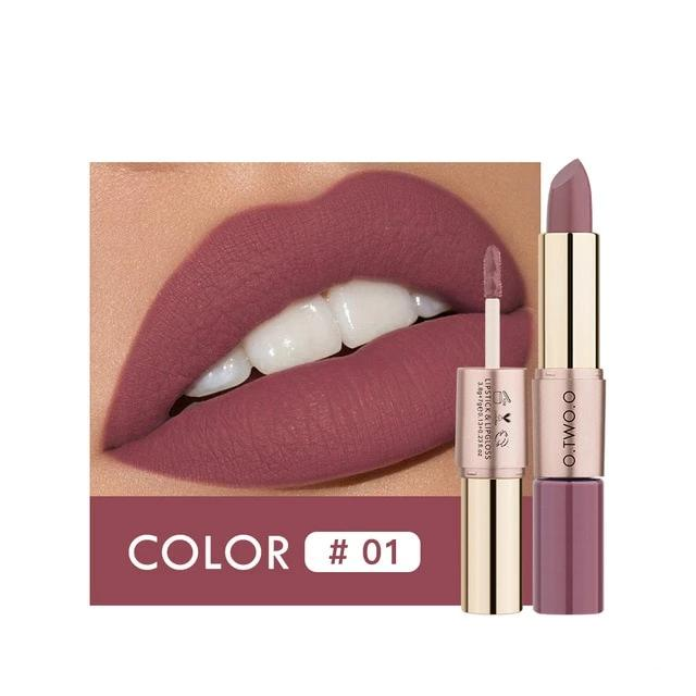 2 in 1 Matte Lipstick and Lip Gloss