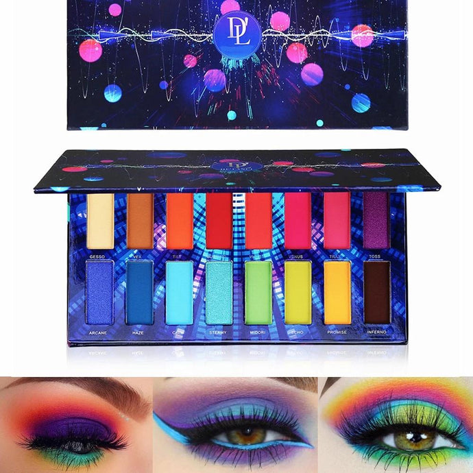 16 Color Pigment Eyeshadow Palette