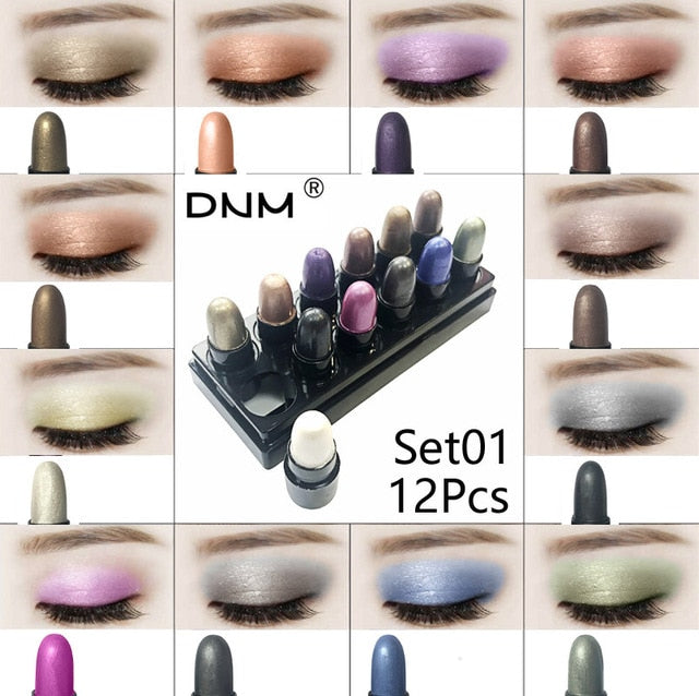 Eyeshadow Stick Set - 12 Pieces