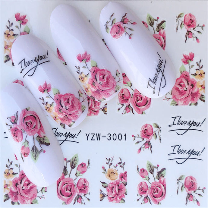 Nail Art - Flower Series: Water Transfer Stickers