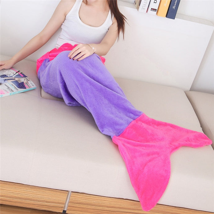 Mermaid blanket for adults and kids