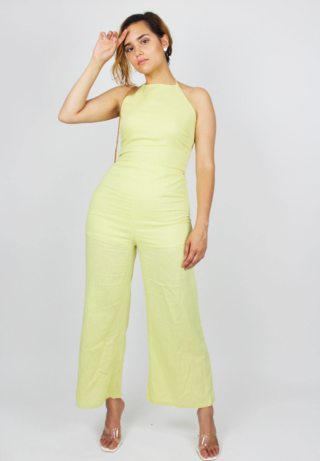 Hint of Lime Jumpsuit