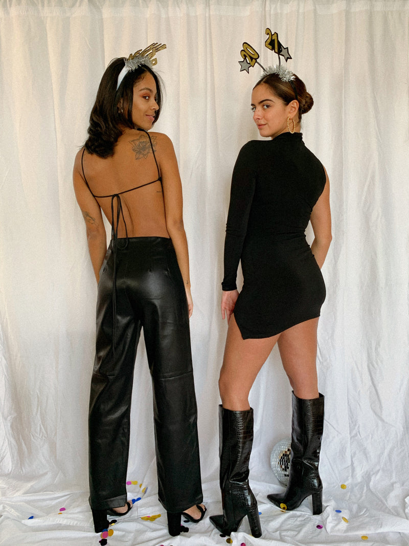 Midnight Flare Leather Pants