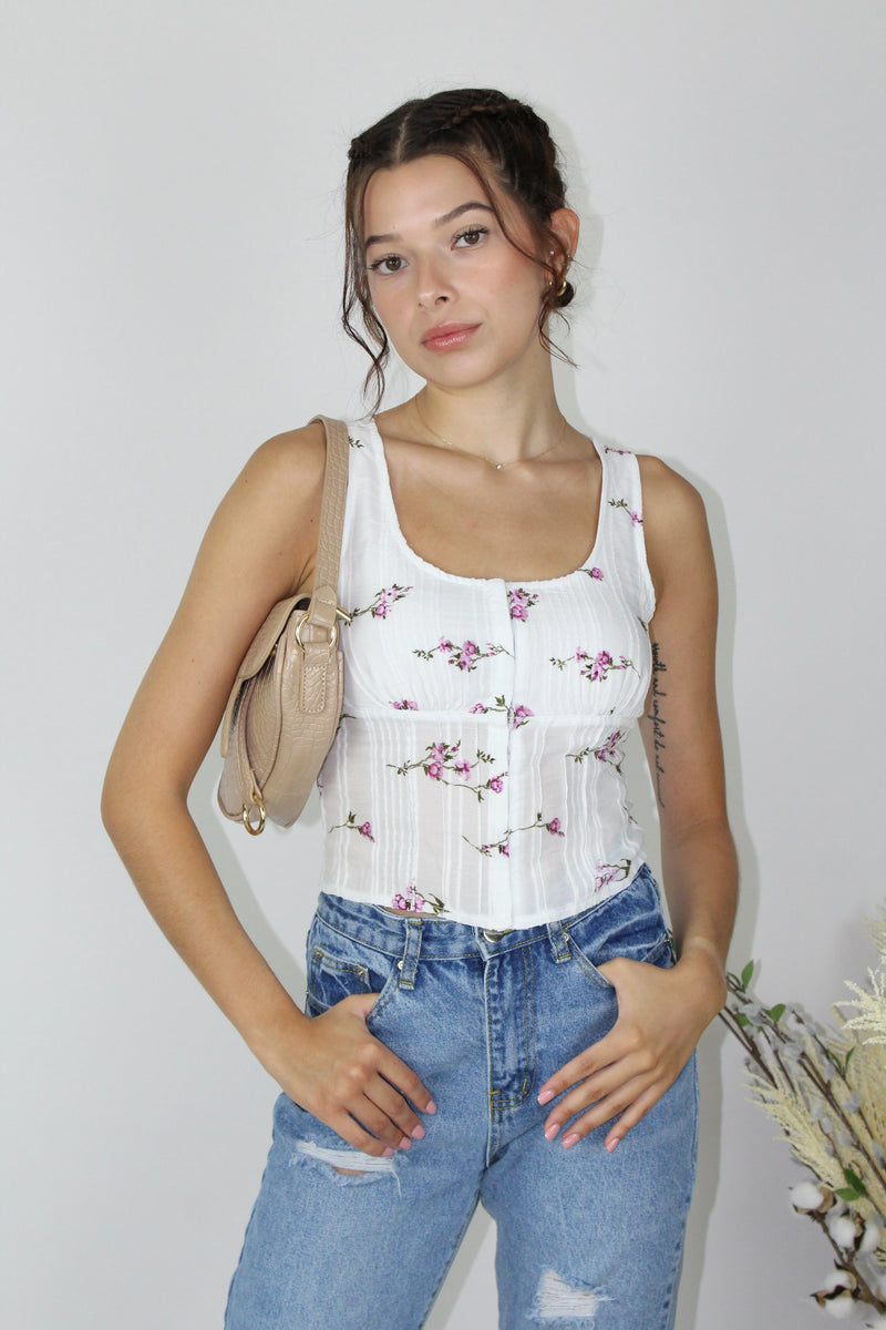 Wild Flower Corset Top