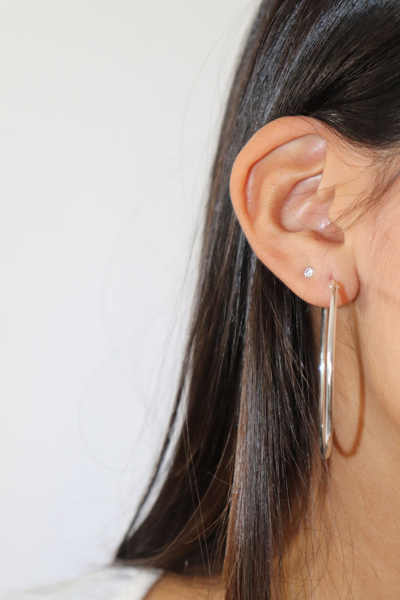 Large Thin Hoop Earrings