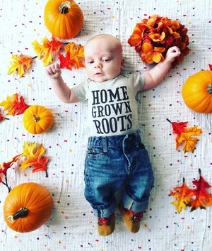 Home Grown Roots Onesie