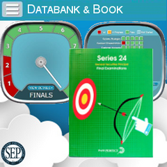 Series 24 Exam Study Book and Online Databank of Final Exams