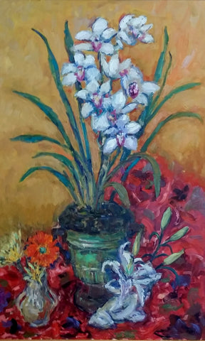 Mani, Gloria, (Orchids, Lillies and Daisies)