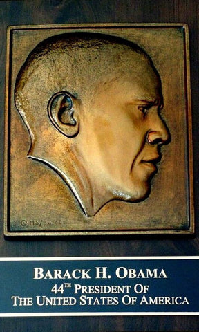 United States 44th President Barack Obama Bronze Plaque