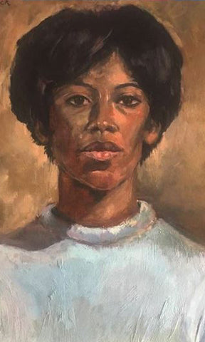 Sandock, Phyllis, (1960's Painting of Diane Sands)