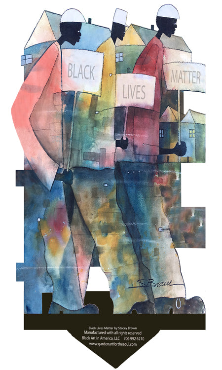 Garden Art (small) - Black Lives Matter by Stacey Brown
