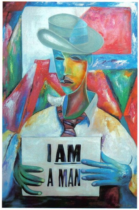 "Hunt, George, (I Am A Man III)	Hand Pulled Serigraph	27"" x 43""	 $1,850.00"