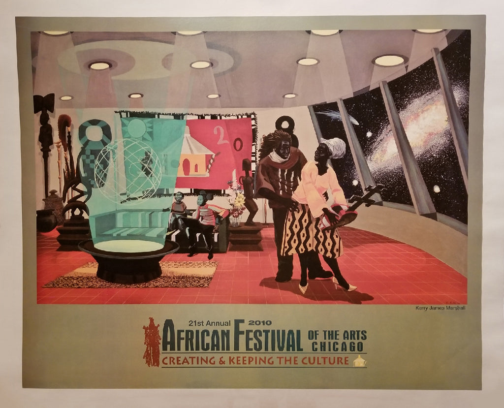 Marshall, Kerry James, (2010 Chicago African Festival Poster)