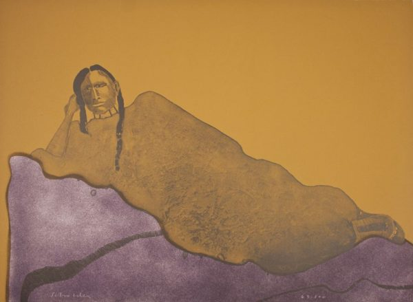 Scholder, Fritz, (Reclining Indian Woman)