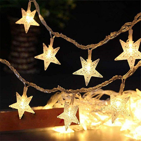10Leds Christmas Tree Star Led String Fairy Light Xmas Party Home Wedding Garden Garland Christmas Led Lights Decoration
