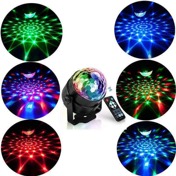 RGB LED Party Effect Disco Ball Light Stage Light laser lamp Projector RGB Stage lamp Music KTV festival Party LED lamp dj light