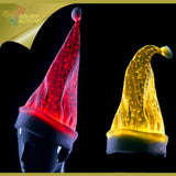 Luminous Hat 2017 Hot Birthday Party Women Men Glowing Christmas Hat Light Clip Fiber Ornaments Hat Glowing Bar For Activities