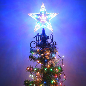4 LED Flashing Mode Star Christmas Tree Topper Light Xmas Home Party Decor Lamp Three size for your choice