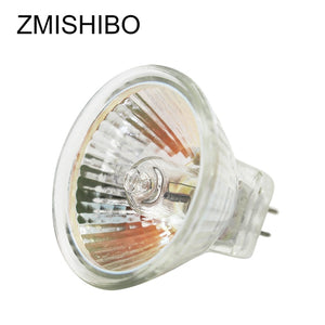 ZMISHIBO 10PCS/Lot MR16 GU5.3 Halogen Bulb 12V 20W 35W 50W 220V JCDR 50MM Clear Glass Dimmable Spot Lights Warm White 2700K