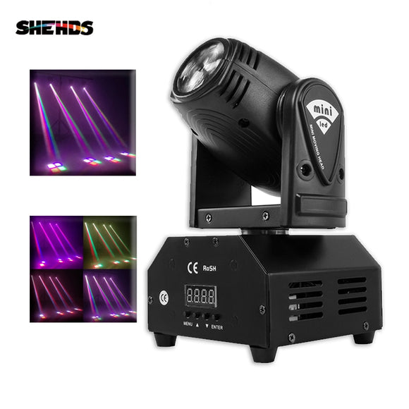 Mini RGBW LED 10W LED Beam moving head Light High Power 10Watt Quad Stroboscope LED Strong Beam Light For Party Disco DJ Light