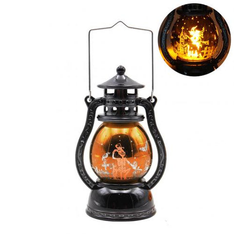 3 Color Horrible Halloween Atmosphere Cat Design Pumpkin Witch Handheld LED Light Lamp Lampion Home Party Bar KTV Good Decor