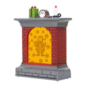 Christmas Decorative Warm White LED Light Fireplace Design Lantern Holiday Ornaments Gifts