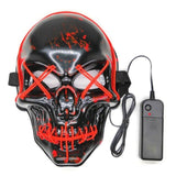 Skull Halloween LED Light Up Masks Full Face Covered Luminous Glow Party Favors Supplies