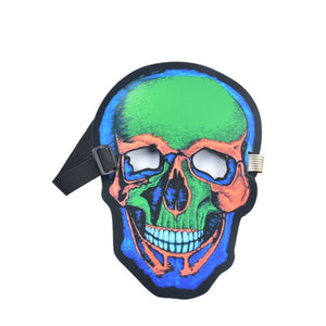 Sound Activated LED Light Up Mask Skull Design Halloween DJ Music Mask Full Face Covered Glowing Party Mask