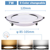 LED Downlight 3W 5W 7W 9W 12W 15W Round Recessed Lamp 220V 230V 240V 110V Home Decor Bedroom Kitchen Indoor Spot Lighting