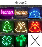 Wholesale 39 Styles Led Neon Light Colorful Rainbow Neon Sign for Room  Home Party Wedding Decoration Xmas Gift Neon Lamp