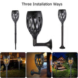 96 LED Solar Flame Lamp Flickering Torch Light IP65 Waterproof Garden Light USB Charging Path Lawn Lamp Three Installation Modes