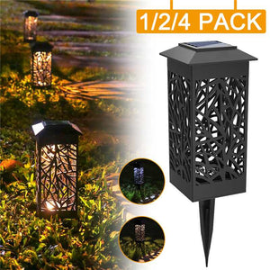 1/2/4 Pack LED Solar Stake Light Lantern Solar Powered Pathway Lights Decorative Outdoor Lawn Yard Lamp For Garden