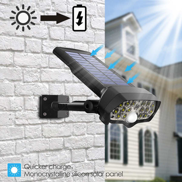 Waterproof 65 LED Solar Lamp Outdoor Home Garden Security Wall Lamp PIR Motion Sensor Wall Light Solar Powered Flood Auto Light