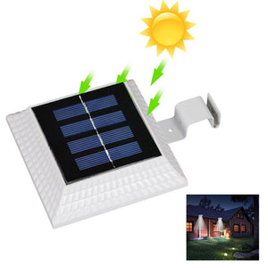 Street Lamp Wall Light Solar 4 LED Garden Landscape Home Security Outdoor Walkway Lights Durable IP44 Flashlight