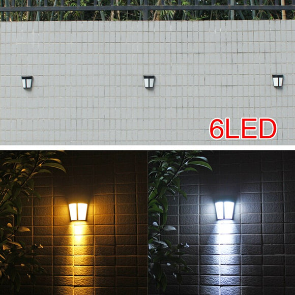 Wall Light Street Lamp Solar 6 LED Garden Outdoor Security Landscape Home Walkway Lights Eco-Friendly IP55 Flashlight
