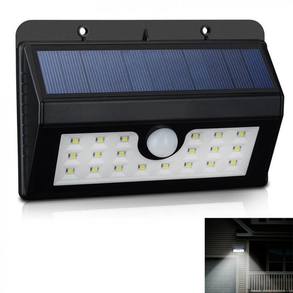 Solar Motion Sensor Light 20LED Solar Powered Security Motion Sensor Light Outdoor Wall Garden Lamp For Home Garden Yard Outdoor