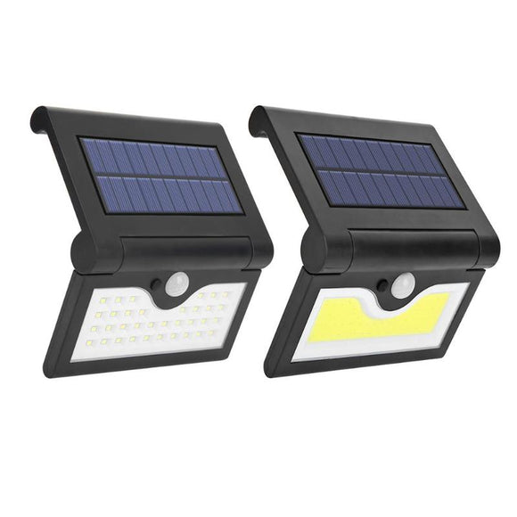 Foldable Solar LED Wall Light IP65 Waterproof Human Motion Sensor Street Yard Path Outdoor Home Garden Security Wall Lamp