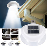 Solar Power Wall Light Security Lamp 9 LED Street Lamp Garden Fence Light UFO EnergySaving Gutter Home Multicolor 10W Outdoor