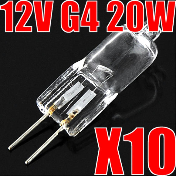 10x Super Bright G4 Halogen Light Bulb 25w 40w 60w Halogen G4 220V Indoor Clear Halogen G4 Lamp 3000K Warm White