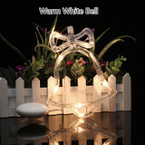 20 Led Christmas Bell Lights Christmas Party Holiday Window Decorative Sucker Lamp Battery Powered Holiday Light for Home Decora