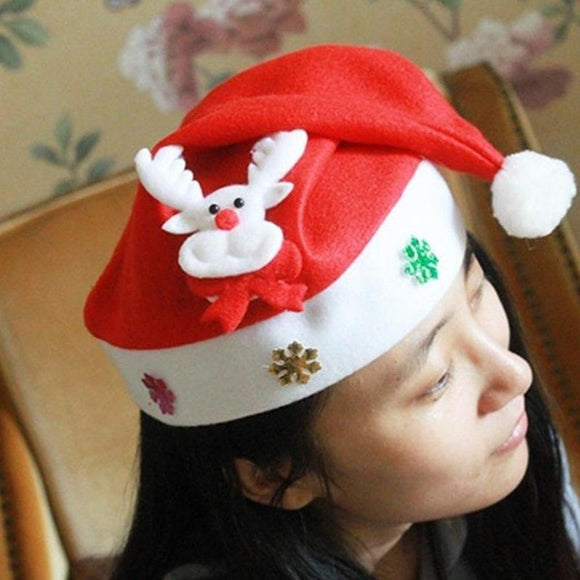 Merry Christmas LED Light Hat Santa Claus/Snowman Xmas Cap For Adult Kid