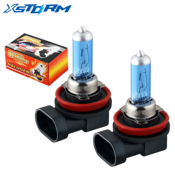 2pcs H8 H11 55W 12V Super White Halogen Bulb Fog Lights Car Headlights Lamp Car Light Source Car Styling parking auto