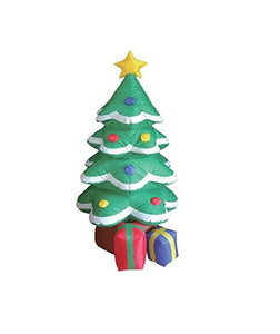 Inflatable Christmas Tree Costume Inflatable Tree Costume Flashing Lighted Blow-Up Yard Christmas Party Decoration